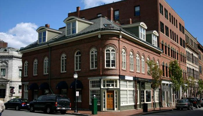 A commercial building in New England