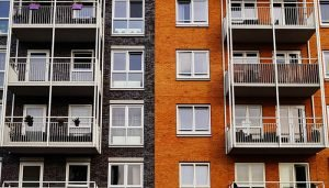 The front of an apartment building